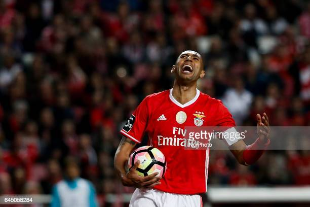 Benfica's defender Luisao reacts during Premier League 2016/17 match between SL Benfica vs GD Chaves in Lisbon on February 24 2017