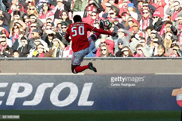 Benfica's defender Nelson Semedo from Portugal during the match between SL Benfica and Boavista FC for the Portuguese Primeira Liga at Estadio da Luz...