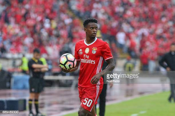 Benficas defender Nelson Semedo from Portugal during the match between SL Benfica and Vitoria SC for the Portuguese Cup Final at Estadio Nacional on...