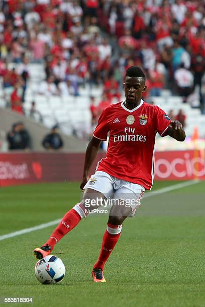 Benfica's defender Nelson Semedo in action during the Eusebio Cup football match between SL Benfica and Torino FC at the Luz stadium in Lisbon...