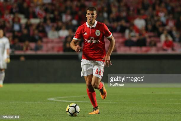 Benficas defender Ruben Dias from Portugal during the Portuguese Cup 2017/18 match between SL Benfica v SC Braga at Luz Stadium in Lisbon on...