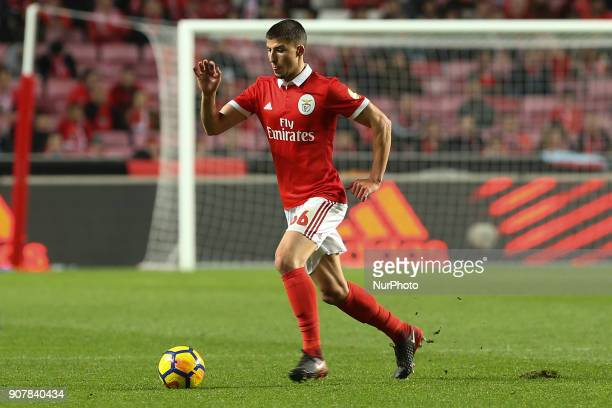 Benficas defender Ruben Dias from Portugal during the Premier League 2017/18 match between SL Benfica v GD Chaves at Luz Stadium in Lisbon on January...