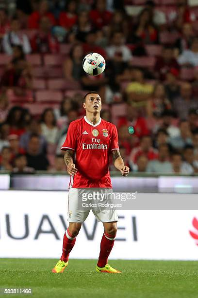 Benfica's defender Victor NilssonLindelof during the match between SL Benfica and Torino for the Eusebio Cup at Estadio da Luz on July 27 2016 in...