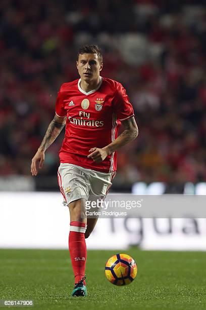 Benfica's defender Victor NilssonLindelof during the match between SL Benfica v Moreirense FC Primeira Liga at Estadio da Luz on November 27 2016 in...