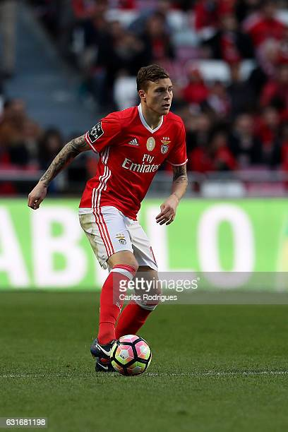 Benfica's defender Victor NilssonLindelof during the match between SL Benfica and Boavista FC for the Portuguese Primeira Liga at Estadio da Luz on...
