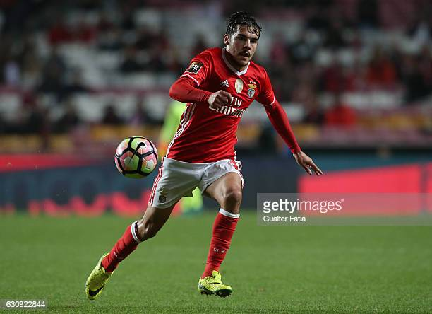 Benfica's defender Yuri Ribeiro in action during the Primeira Liga match between SL Benfica and FC Vizela at Estadio da Luz on January 3 2017 in...