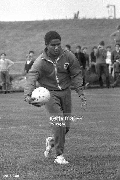 Benfica's Eusebio during a training session at Harlow Sports Centre ahead of their European Cup Final match against Manchester United at Wembley...