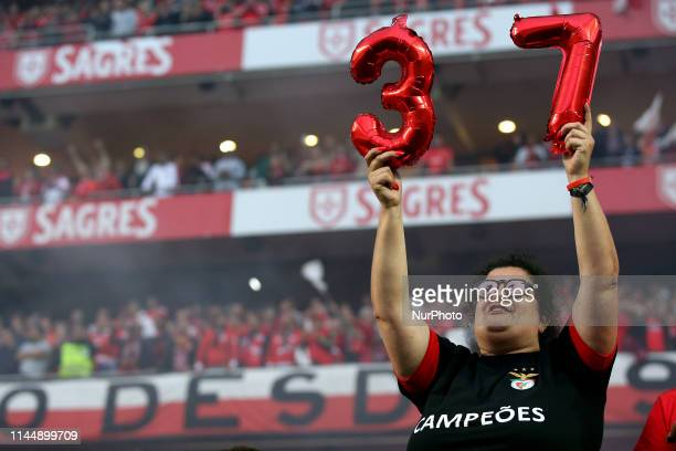 Benfica's fan during the Portuguese League Primeira Liga football match SL Benfica vs CD Santa Clara at the Luz stadium in Lisbon on May 18 2019