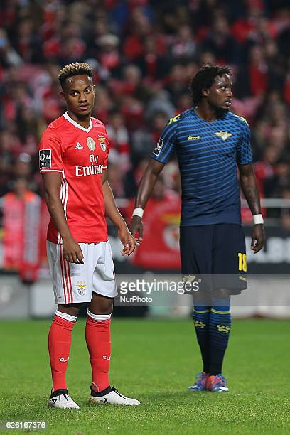 Benficas forward Andre Carrillo from Peru during Premier League 2016/17 match between SL Benfica and Moreirense FC at Estadio da Luz in Lisbon on...