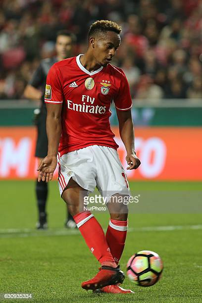 Benficas forward Andre Carrillo from Peru during the Portuguese Cup 2016/17 match between SL Benfica v FC Vizela at Luz Stadium in Lisbon on January...