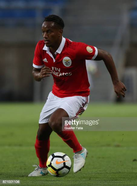 Benfica's forward Andre Carrillo from Peru in action during the Algarve Cup match between SL Benfica and Hull City at Estadio Algarve on July 22 2017...
