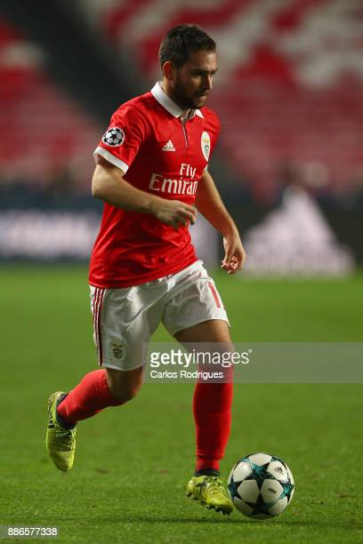 Benfica's forward Andrija Zivkovic from Serbia during SL Benfica v FC Basel UEFA Champions League round six match at Estadio da Luz on December 05...