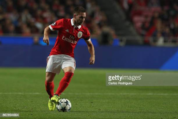 Benfica's forward Andrija Zivkovic from Serbia during SL Benfica v Manchester United UEFA Champions League round three match at Estadio da Luz on...