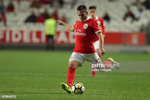 Benfica's forward Andrija Zivkovic from Serbia during the match between SL Benfica and FC Vitoria Setubal for the Portuguese Primeira Liga at Estadio...