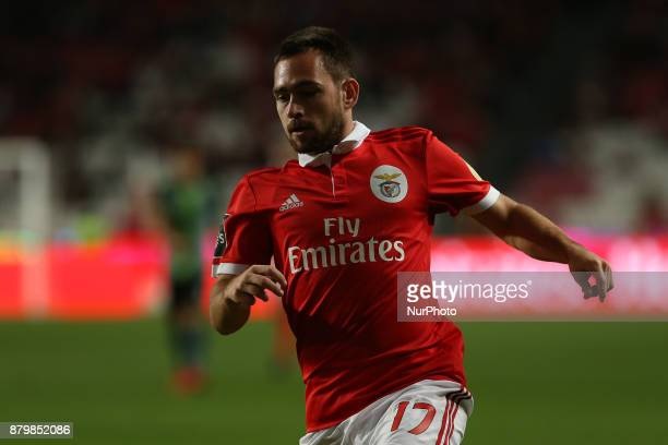 Benficas forward Andrija Zivkovic from Serbia during the Premier League 2017/18 match between SL Benfica and FC Vitoria Setubal at Luz Stadium in...