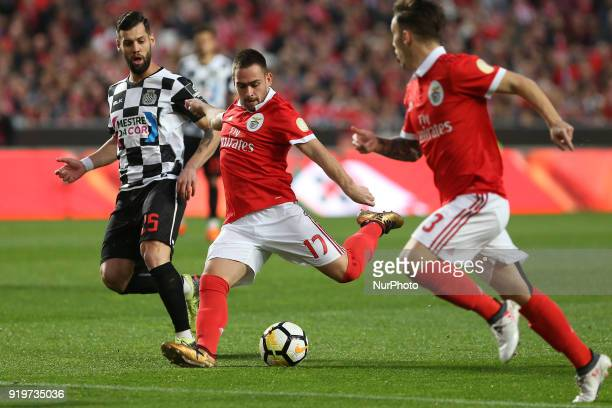Benficas forward Andrija Zivkovic from Serbia during the Premier League 2017/18 match between SL Benfica v Boavista FC at Luz Stadium in Lisbon on...