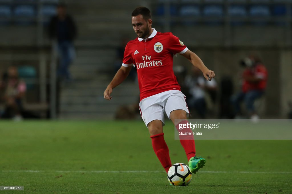 Benfica's forward Andrija Zivkovic from Serbia in action during the Algarve Cup match between SL Benfica and Hull City at Estadio Algarve on July 22, 2017 in Faro, Portugal.