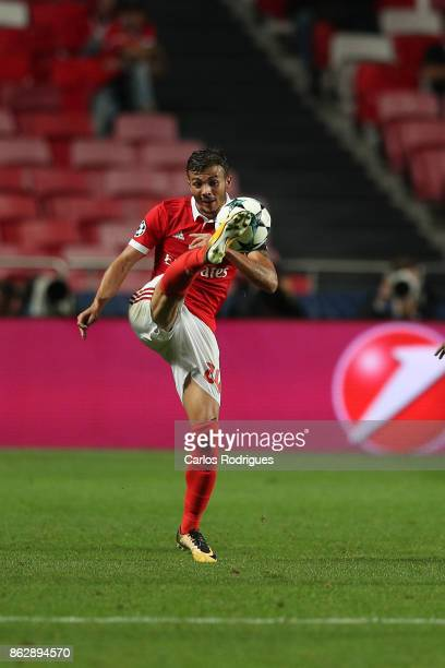 Benfica's forward Diogo Goncalves from Portugal during SL Benfica v Manchester United UEFA Champions League round three match at Estadio da Luz on...