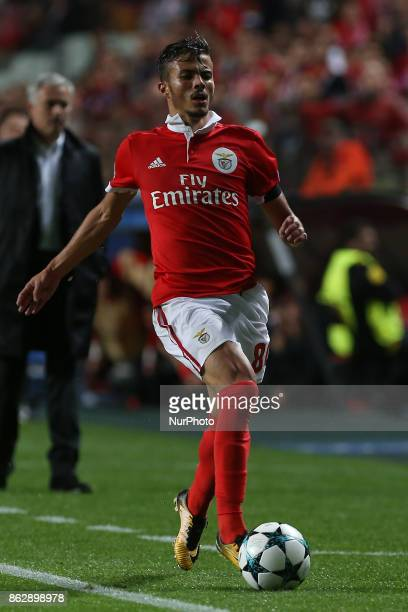 Benficas forward Diogo Goncalves from Portugal during the match between SL Benfica v Manchester United FC UEFA Champions League playoff match at Luz...