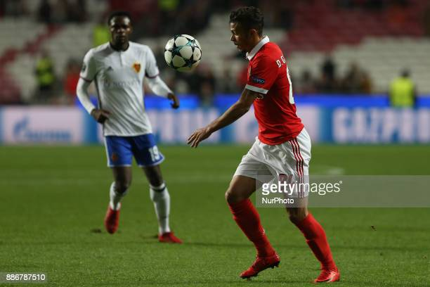 Benficas forward Diogo Goncalves from Portugal during the match between SL Benfica v FC Basel UEFA Champions League playoff match at Luz Stadium on...