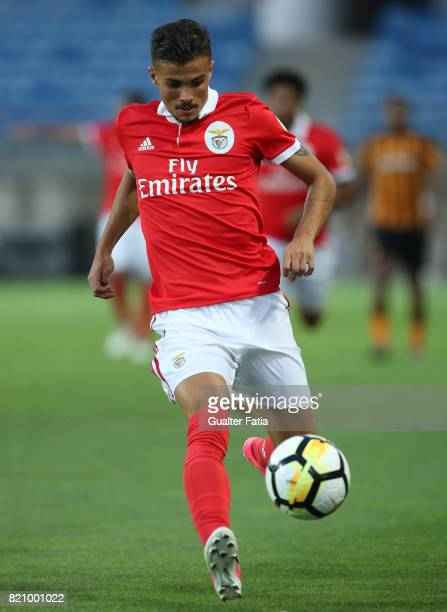 Benfica's forward Diogo Goncalves from Portugal in action during the Algarve Cup match between SL Benfica and Hull City at Estadio Algarve on July 22...