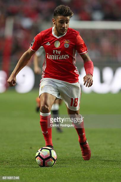 Benfica's forward Eduardo Salvio from Argentina during the match between SL Benfica and Boavista FC for the Portuguese Primeira Liga at Estadio da...