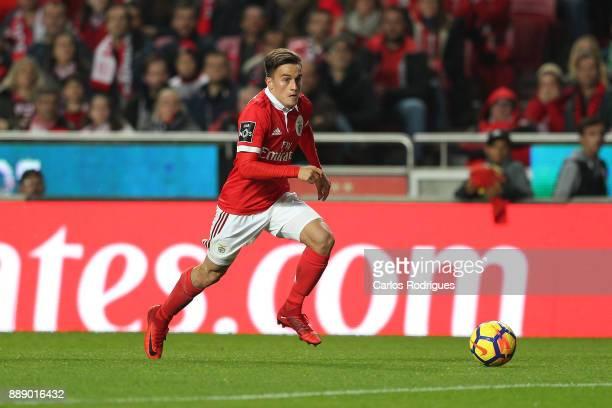 Benfica's forward Franco Cervi from Argentina during the match between SL Benfica and Estoril Praia SAD for the Portuguese Primeira Liga at Estadio...