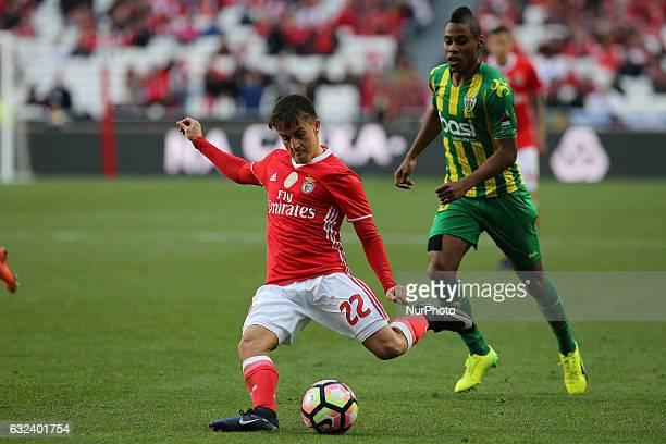 Benficas forward Franco Cervi from Argentina during the Premier League 2016/17 match between SL Benfica v CD Tondela at Luz Stadium in Lisbon on...