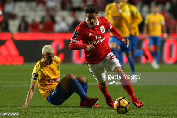 Benficas forward Franco Cervi from Argentina during the Premier League 2017/18 match between SL Benfica v GD Estoril Praia at Luz Stadium in Lisbon...