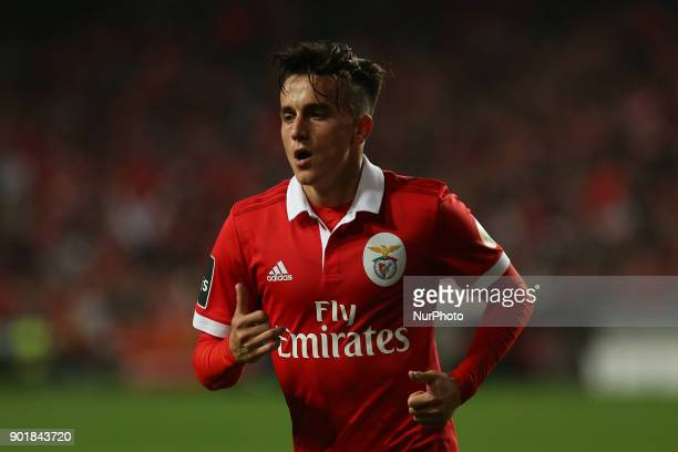 Benficas forward Franco Cervi from Argentina during the Premier League 2017/18 match between SL Benfica v Sporting CP at Luz Stadium in Lisbon on...