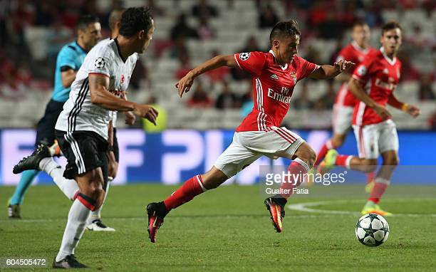 BenficaÕs forward from Argentina Franco Cervi in action during the UEFA Champions League match between SL Benfica and Besiktas JK at Estadio da Luz...