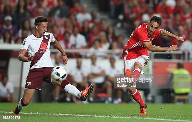 Benfica's forward from Brazil Jonas in action during the Eusebio Cup match between SL Benfica and Torino at Estadio da Luz on July 27 2016 in Lisbon...