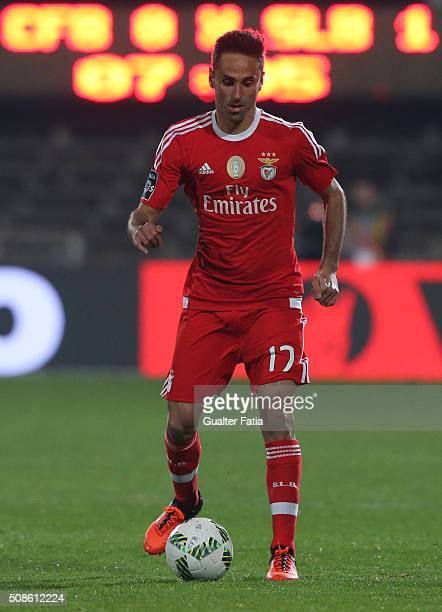 Benfica's forward from Brazil Jonas in action during the Primeira Liga match between Os Belenenses and SL Benfica at Estadio do Restelo on February 5...