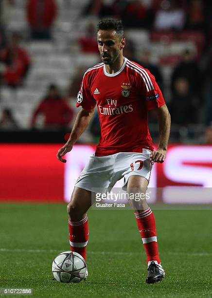 BenficaÕs forward from Brazil Jonas in action during the UEFA Champions League Round of 16 First Leg match between SL Benfica and FC Zenit at Estadio...