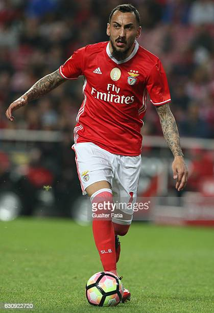 Benfica's forward from Greece Kostas Mitroglou in action during the Primeira Liga match between SL Benfica and FC Vizela at Estadio da Luz on January...