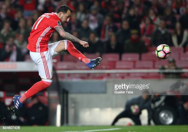 BenficaÕs forward from Greece Kostas Mitroglou in action during the Primeira Liga match between SL Benfica and FC Arouca at Estadio da Luz on...
