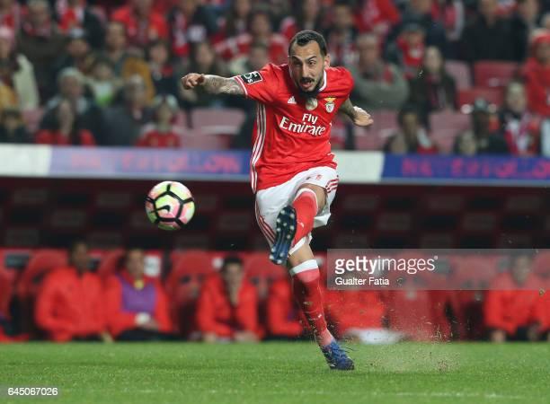 Benfica's forward from Greece Kostas Mitroglou in action during the Primeira Liga match between SL Benfica and GD Chaves at Estadio da Luz on...