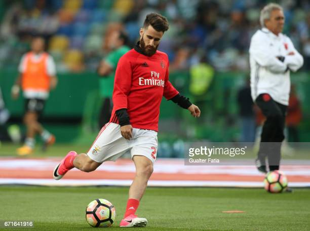 Benfica's forward from Portugal Rafa Silva in action during warm up before the start of the Primeira Liga match between Sporting CP and SL Benfica at...