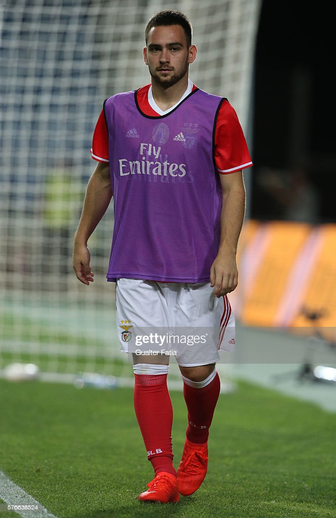 SL Benfica's forward from Serbia Andrija Zivkovic during the Algarve Football Cup Pre Season Friendly match between SL Benfica and Derby County at Estadio do Algarve on July 16, 2016 in Faro, Portugal.