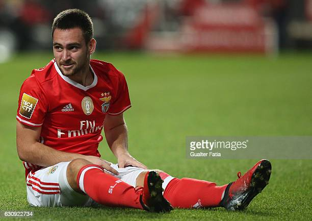 Benfica's forward from Serbia Andrija Zivkovic during the Primeira Liga match between SL Benfica and FC Vizela at Estadio da Luz on January 3 2017 in...