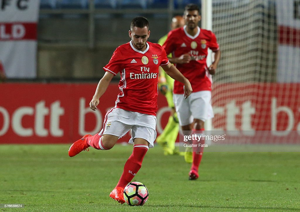 SL Benfica's forward from Serbia Andrija Zivkovic in action during the Algarve Football Cup Pre Season Friendly match between SL Benfica and Derby County at Estadio do Algarve on July 16, 2016 in Faro, Portugal.