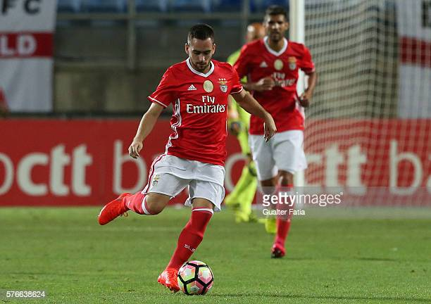 Benfica's forward from Serbia Andrija Zivkovic in action during the Algarve Football Cup Pre Season Friendly match between SL Benfica and Derby...