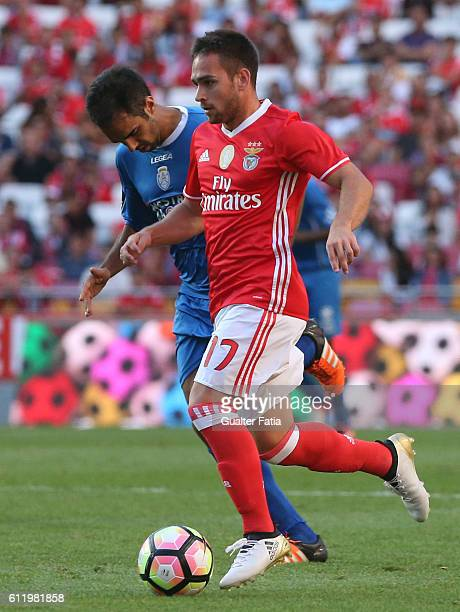 Benfica's forward from Serbia Andrija Zivkovic in action during the Primeira Liga match between SL Benfica and CD Feirense at Estadio da Luz on...