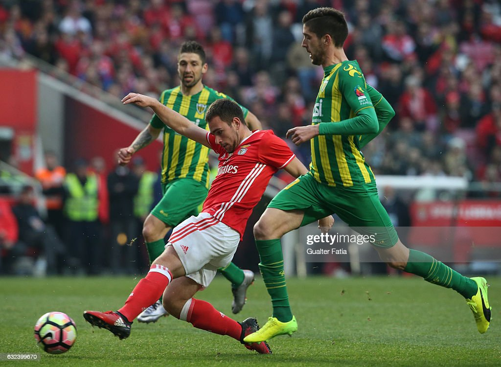SL BenficaÕs forward from Serbia Andrija Zivkovic in action during the Primeira Liga match between SL Benfica and CD Tondela at Estadio da Luz on January 22, 2017 in Lisbon, Portugal.