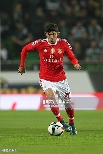Benfica's forward Goncalo Guedes during the match between Sporting CP and SL Benfica for the Portuguese Cup at Jose Alvalade Stadium on November 21...