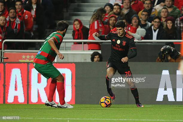 Benficas forward Goncalo Guedes from Portugal during Portuguese Cup match between SL Benfica v CS Maritimo at Luz Stadium in Lisbon on November 19...