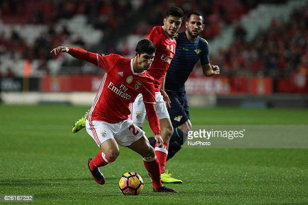 Benficas forward Goncalo Guedes from Portugal during Premier League 2016/17 match between SL Benfica and Moreirense FC at Estadio da Luz in Lisbon on...