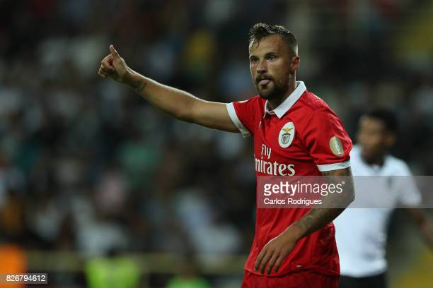 Benfica's forward Haris Seferovic from Switzerland during the match between SL Benfica and VSC Guimaraes at Estadio Municipal de Aveiro on August 05...