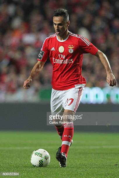 Benfica's forward Jonas during the match between SL Benfica and FC Arouca at Estadio da Luz on January 23 2016 in Lisbon Portugal