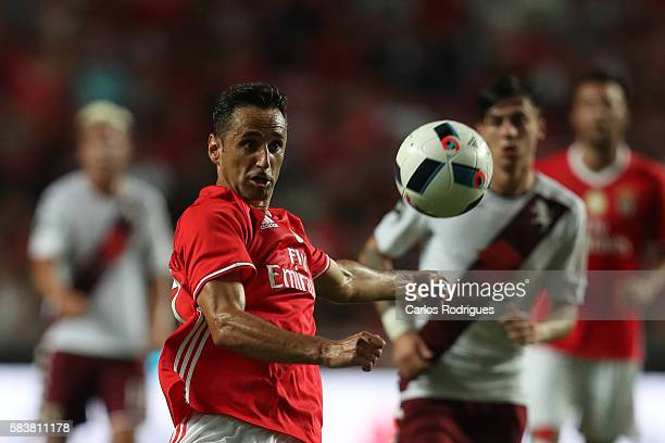 Benfica's forward Jonas during the match between SL Benfica and Torino for the Eusebio Cup at Estadio da Luz on July 27 2016 in Lisbon Portugal